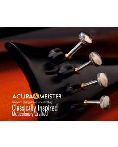 Cordiera per violino Acura Meister in ebano, mod. Francese con 4 tiracantini in titanio